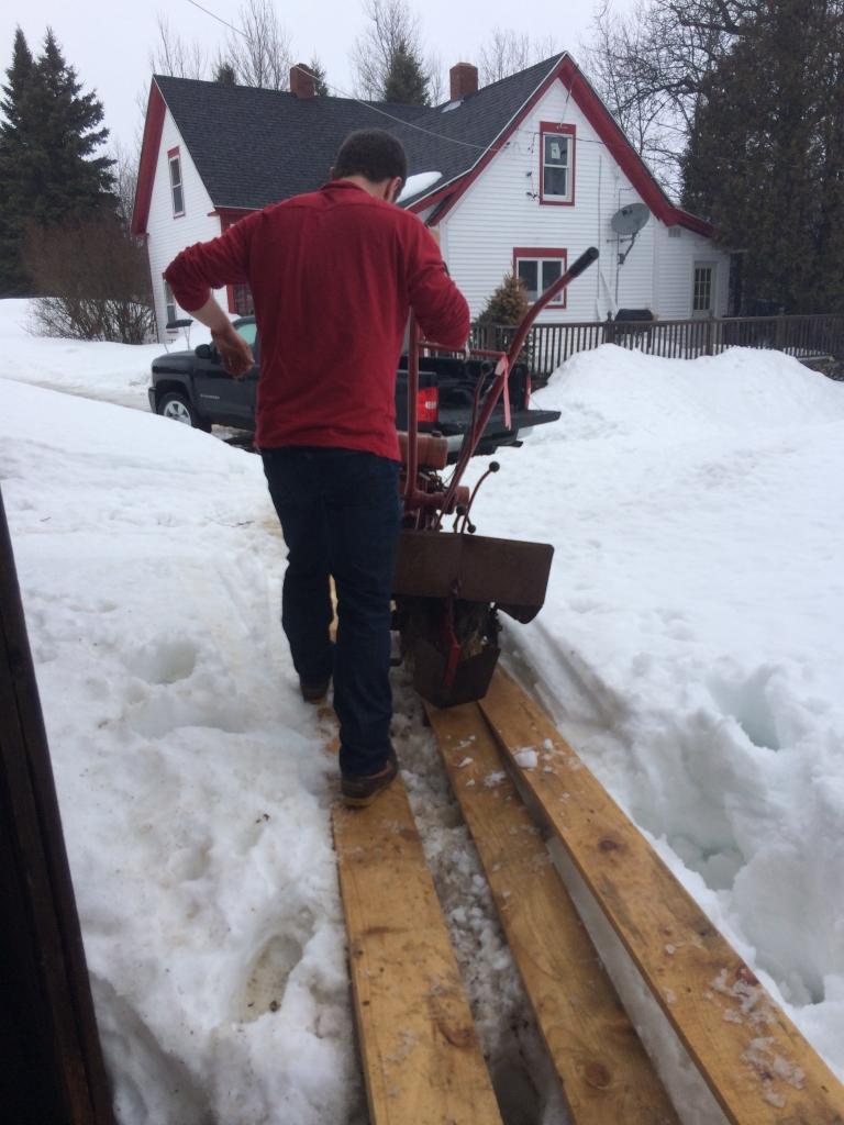 Tristan walking the plank