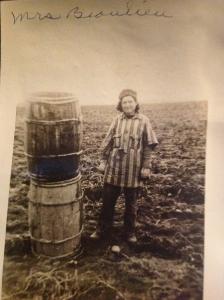 Mrs. Beaulieu in the field