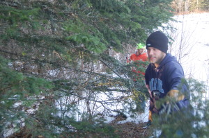 Jon and Tristan in the trees